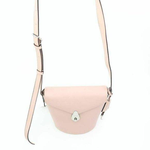 Calvin Klein Womens Crossbody Bag Pink Lock Adjust